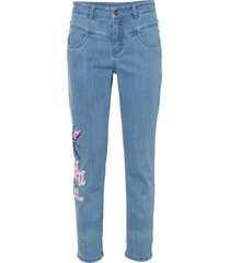 jeans cropped (bianco) - rainbow