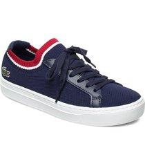 la pique 119 1 cfa låga sneakers blå lacoste shoes