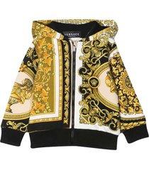 versace young baroque print hoodie