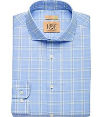 joe joseph abboud repreve® olive plaid slim fit dress shirt