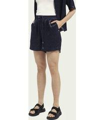 scotch & soda elasticated waist jacquard shorts