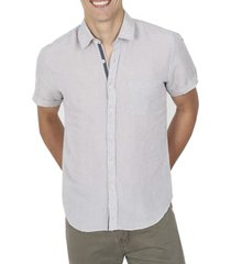 camisa lino beige arrow