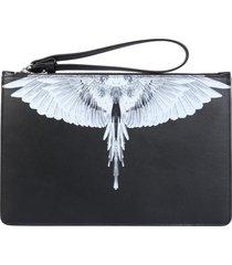 marcelo burlon clutch with wings logo