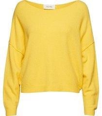 damsville stickad tröja gul american vintage