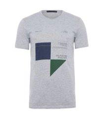 t-shirt masculina estampada - cinza