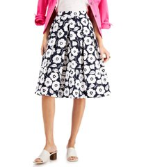 charter club miami cotton pleated skirt, created for macy's
