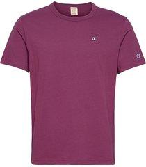 crewneck t-shirt t-shirts short-sleeved lila champion reverse weave