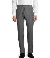 armani collezioni men's straight-leg trousers - grey - size 58 (48) r