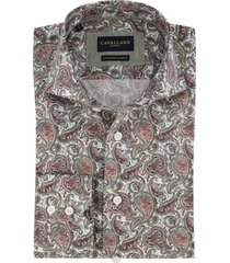 cavallaro overhemd mouwlengte 7 paisley print