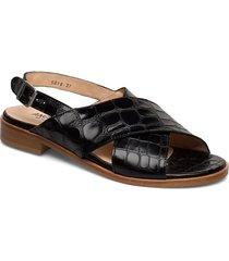 sandals - flat shoes summer shoes flat sandals svart angulus