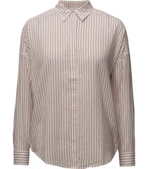 allover printed shirt with dropped shoulder overhemd met lange mouwen roze scotch & soda