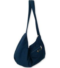 bolsa de ombro heide ribeiro saco liso com compartimentos marinho