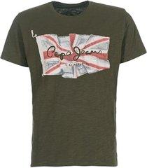 t-shirt korte mouw pepe jeans flag logo