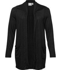 jrellen ls knit cardigan - s stickad tröja cardigan svart junarose
