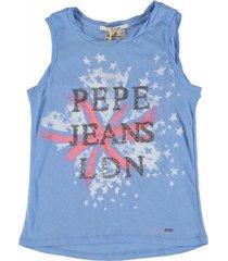 pepe jeans blauwe top