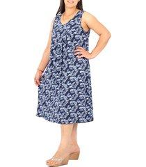 vestido azul minari seda frunce hojas
