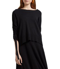 women's michael stars cecily ruched sleeve pullover
