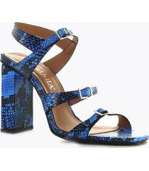 sandalia tacón alto azul perugia 97101vi-co