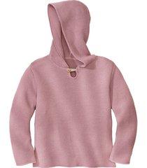 gebreide pullover met capuchon van bio-katoen, roze 122/128