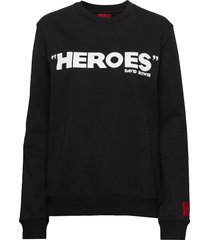 deroes - ww sweat-shirt tröja svart hugo