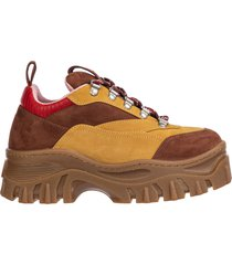 scarpe sneakers donna in pelle tractor