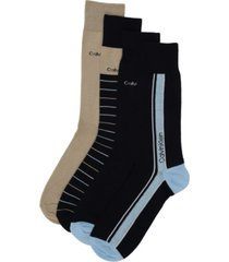 calvin klein men's 4-pack vertical striped logo dress socks