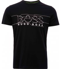 boss distorted logo t-shirt - black 50399921-001