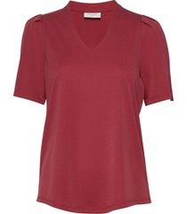 fqyr-ss-balloon blouses short-sleeved röd free/quent