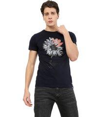 camiseta azul oscuro manpotsherd style