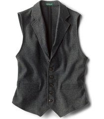 casual wool unconstructed vest