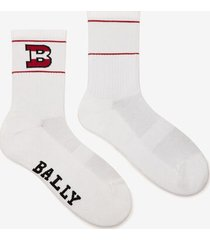 b logo socks white 36