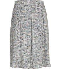 3327 - norma l knälång kjol blå sand