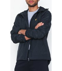 lyle & scott zip through hooded jacket jackor dark navy