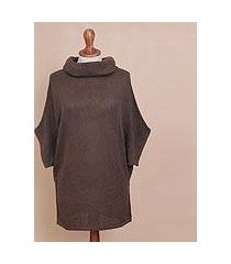 cotton blend sweater, 'mahogany flow' (peru)