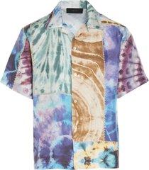 amiri patchwork tie-dye shirt