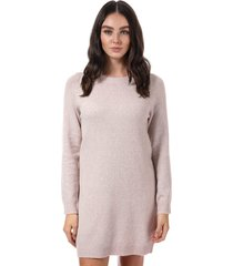 vero moda doffy lurex jumper dress size 12 in pink