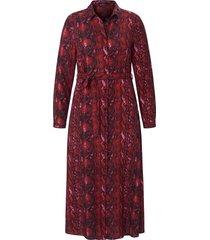 jurk met overhemdkraag en lange mouwen van emilia lay rood