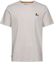ss boot tee t-shirts short-sleeved creme timberland