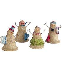 beach sand snowman christmas ornaments set of 4
