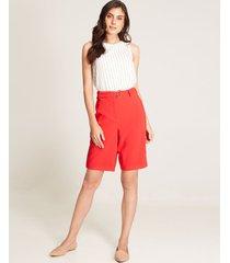 blusa lineas sin mangas blanco xs