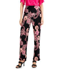 inc floral wide leg-pants, created for macy's