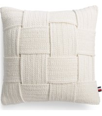 "tommy hilfiger leilani braided 18"" square decorative pillow bedding"