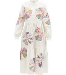 paloma floral-patchwork cotton dress