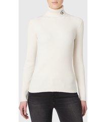 sweater calvin klein jeans beige - calce slim fit