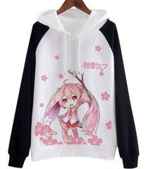 hatsune miku hoodie cosplay costume fashion japanese cloth cute women sweatshirt