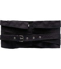 isabel marant étoile prika waist belt - black