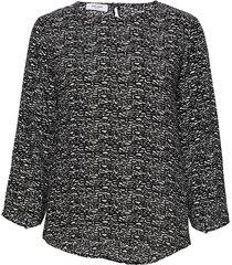 blouse long-sleeve blus långärmad svart gerry weber edition