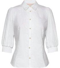 chillykb blouse overhemd met lange mouwen wit karen by simonsen