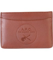 a.p.c. designer men's bags, card holder with logo
