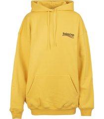 balenciaga woman yellow political campaign medium fit hoodie